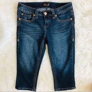 💙7 blue jeans Capri💙